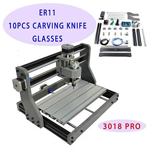 XINTONGRULE 3018 Pro Mini enrutador CNC Máquina de Grabado Fresadora Máquina láser Enrutador DIY Control GRBL Cabezal láser ER11