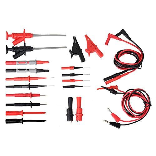 Messleitungen, Messleitungen für Multimeter, moonlux 22 Stück Professionelles Elektronisches Multimeter Zubehör, Prüfspitzen, Krokodilklemmen, usw