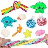 Xiaoqiao Sensory Fidget Toys Set de 22 piezas de herramientas antiestrés y antiansiedad, juguetes para niños y adultos (multicolor, un juego)