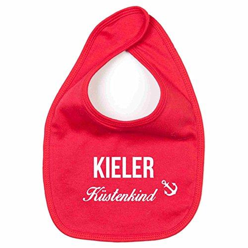 Baby Lätzchen Kieler Küstenkind Kinderlätzchen Kinderlatz Schlabberlatz Batterl, rot-weiss