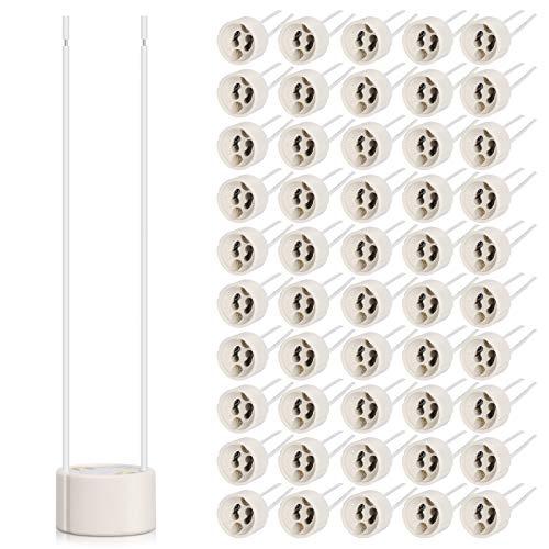 DiCUNO 50P GU10 Portalámparas 0.75mm² Cable de silicona Conector GU10 Base de...