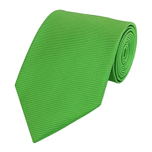 Fabio Farini - Elegante cravatta da uomo in 8cm di larghezza in diversi colori per ogni occasione come matrimonio, cresima, ballo di fine anno A strisce Erba verde