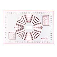 シリコンベーキングマットシート、ノンスティック菓子ローリングマット測定60×40 cmのすべり止めシリコン生地混練マット、カウンターテーブルマット、プレイスマット、ピザマット付き