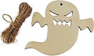 SJZERO Ornements Suspendus en Bois Bricolage Halloween Chauve-Souris Ornement tentures murales Trick Or Treat Halloween Pa...