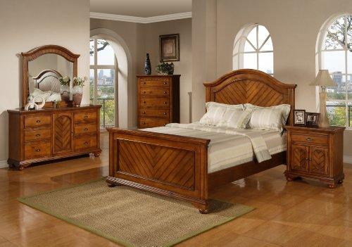 Hot Sale Elements Broderick 5-Piece Bedroom Set, Twin, Chestnut
