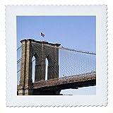 3dRose QS 93080_ 2der Brooklyn Bridge in New York City,