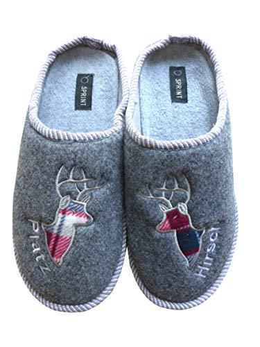 N / A Herren Pantoffeln Hausschuhe Hirsch Größe 43 Männerpantoffeln Männergeschenk Schuhe
