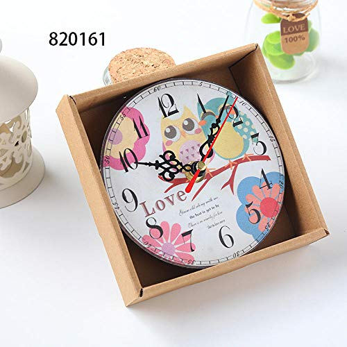LJJYF Home Garden Room Antique Decor Wall Clocks Decoration Clock Shabby Chic Kitchen@10,Wanduhr Kinderuhr