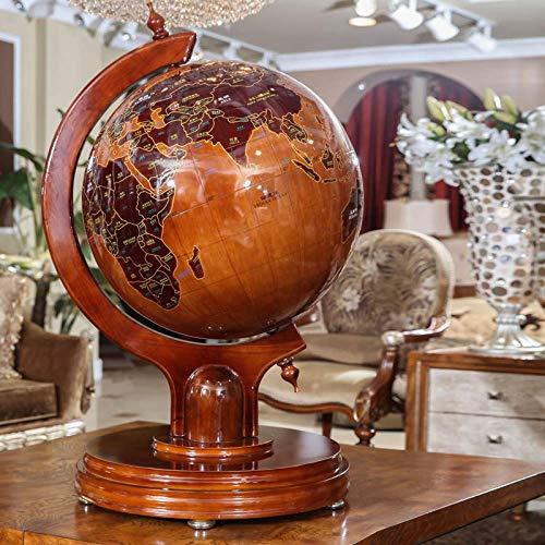 MHCYKJ Schreibtisch Präsident Massivholz Globus Handwerk antiken hölzernen Desktop Dekoration Geschenk Ornamente