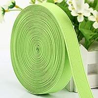 編組伸縮性ロープ/伸縮性バンド/輪ゴム/カラー、太めの伸縮性編組伸縮性スプール、幅2cm、長さ28m、DIY、マスク、袖口に使用,Light green