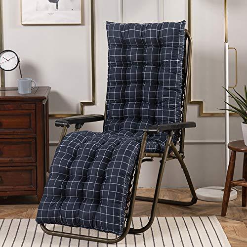 Kryty Outdoor Patio Chaise Lounger Poduszki, Wymiana Sunbed Poduszka Okładka Pad Ogród Patio Gruba Krzesła Pad Anti-Slip Do podróży Wakacyjny Ogród Kryty Odkryty,Blue,48x160cm(19x63inch)