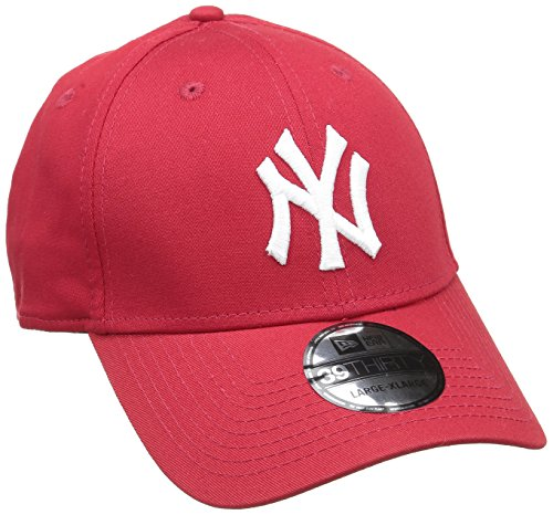 New Era 39Thirty League Basic New York Yankees, Gorra para Hombre, Rojo (Scarlet/White), L/XL