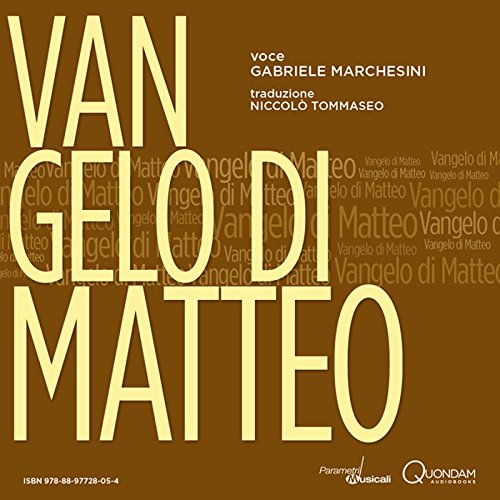Vangelo di Matteo [St. Matthew's Gospel] audiobook cover art