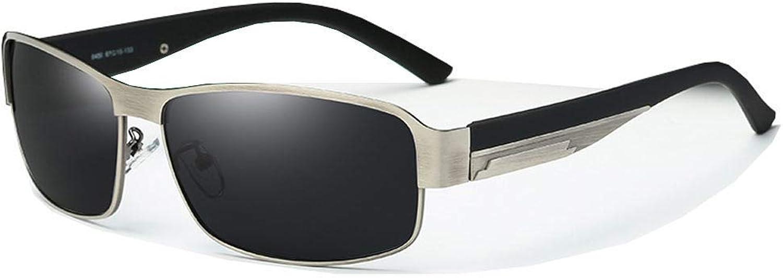 HeiPlaine Driving Glasses aviator wayfar-er sport round- Men's New Aluminum-magnesium High-definition Polarized Hipster Square Predection Sunglasses
