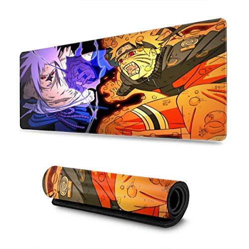 Alfombrilla de ratón Grande de Gran tamaño electrónico de Goma Antideslizante 11,8 x 31,5 Pulgadas Uchiha Sasuke