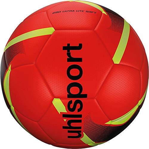 uhlsport Unisex– Erwachsene 290 Ultra Lite Soft Fussball, Fluo orange/schwarz/Fluo, 4