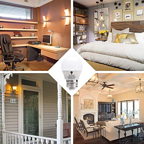 8 Pack BlueX 3W LED Light Bulb G14 3000K Warm White - 25W Equivalent - E26 Base 120V - Small Night Light Bulbs for Bedroom, Ceiling Fan, Table Lamp, Kitchen, Pendant Fixtures, Dinning Room