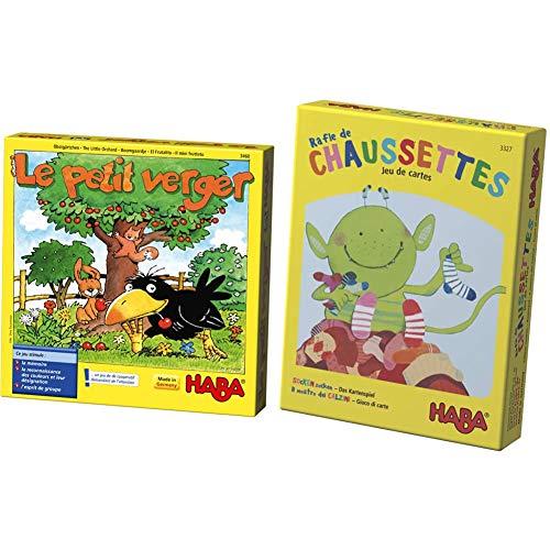 HABA-Le Petit Verger, 003460 & Rafle de Chaussettes Le Jeu de Cartes, 003327