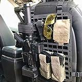 Vianyer Veranstalter der Autositzlehne Starr MOLLE Panel Fahrzeug Autositz Organizer Gewehrhalter Waffenhalter Modulare Speicherplattform für taktische Ausrüstung 17'x 13' (Montagebänder enthalten)