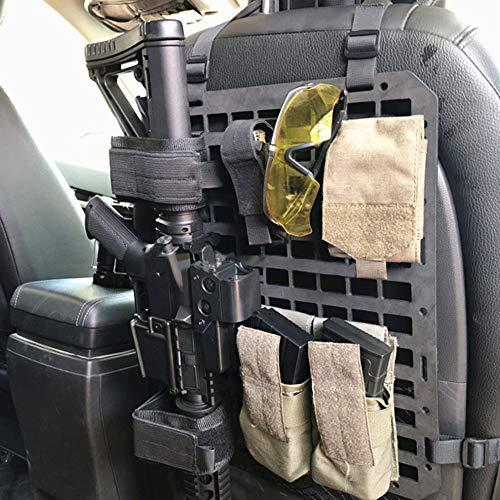 Vianyer Veranstalter der Autositzlehne Starr MOLLE Panel Fahrzeug Autositz Organizer Gewehrhalter Waffenhalter Modulare Speicherplattform für taktische Ausrüstung 17