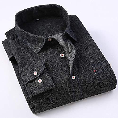 Hemd Lässiges Jeanshemd Herren Langarm Baumwolle Regular Fit Jeans Jeans Shirt Western Fashion Herrenbekleidung Pflegeleicht Bequem M C305150