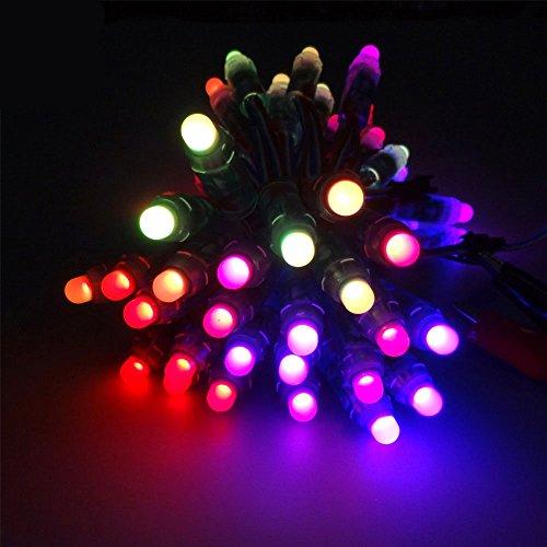 Dreamcolor 50pcs WS2811 Cable RGB A Todo Color 12 mm Pixel Digital Difusor Direccionable LED Módulo de Cadena Luz Fiesta Navidad Decorativa Lámpara Programable DC 5V IP68 Impermeable