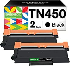 GREENBOX Compatible Toner Cartridge Replacement for Brother TN450 TN-450 TN420 TN-420 for Brother HL-2270DW HL-2280DW MFC-7360N MFC-7860DW DCP-7065DN HL-2240 FAX-2940 IntelliFax-2840 (2 Black)