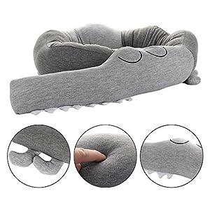 Protector de cama, cojín de cuna, estilo cocodrilo, para cuna, 185 cm de longitud gris Talla:185CM
