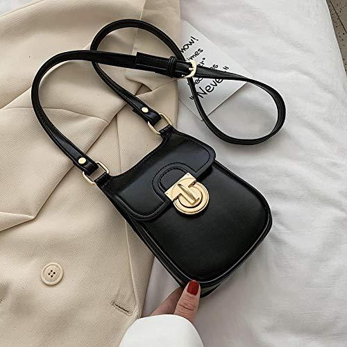Umhängetasche Quadratische Tasche Schulter Umhängetasche Handytasche Brieftasche-schwarze Beuteltasche