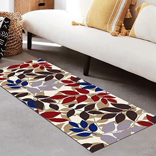 QIANGZI Alfombra de pasillo antideslizante por metros, de poliéster negro, no se decolora, para cocina, para dormitorio, pasillo y pasillo (tamaño: 80 x 450 cm, color: uno)
