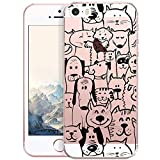 OOH!COLOR Design Coque pour IPHONE 5 et 5S, SE Case Silicone MPA142 Animal Comic avec l'image SoupleT transparente Etui de Protection en TPU