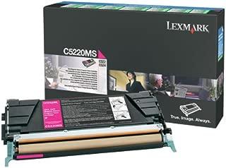 Lexmark C522, C524, C530, C532, C534 Magneta Return Program Toner Cartridge 3,000 Yield, Part Number C5220MS