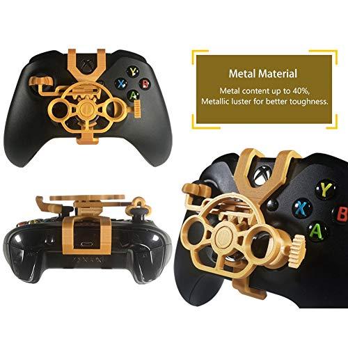 SimpleMfD Für Xbox One Gaming-Rennrad, Mini-Lenkrad für Xbox One/OneX, Für Xbox Elite-Controller