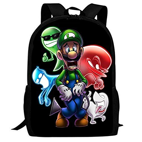 YOMOCO Mario Backpack Lightweight School Backpack Laptop Bag Handle School Bag Student Backpack (S05, Height 140-150 cm)