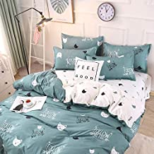 WHICH Umbrella three Pink Flamingo Bedding Set Reversible Duvet Cover Set, 100% Cotton Bedding,with Gray Ticking Striped Pattern on White, with Zipper Closure 3/4pcs-Z2-Queen