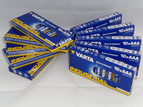 GWS-POWERCELL 100 TEILIGES VARTA INDUSTRIAL SPARPAKET 100x MICRO AAA LR03 1,5V Alkaline (10x 10er)