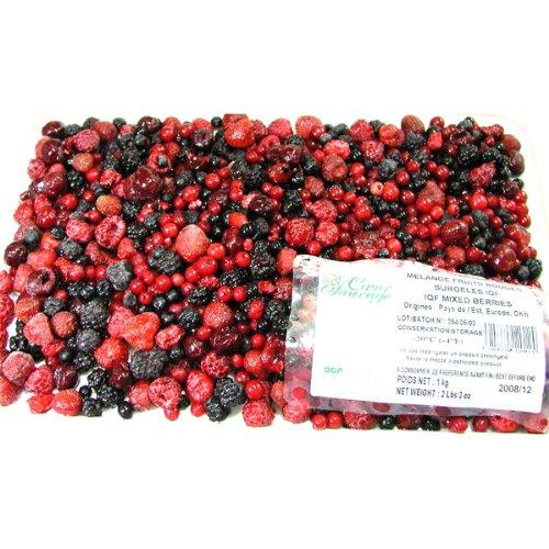 冷凍ミックスベリー 1Kgパック6種類完熟ベリー(完熟のいちご・ブラックベリー桑の実・グリオットチェリー・レッドカラント赤すぐり・ラズベリー木いちご・ブルーベリー) フランス産