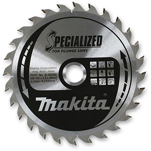 Makita Specialized Tauchsägeblatt 165mm x 28Zähne 20mm Bohrung