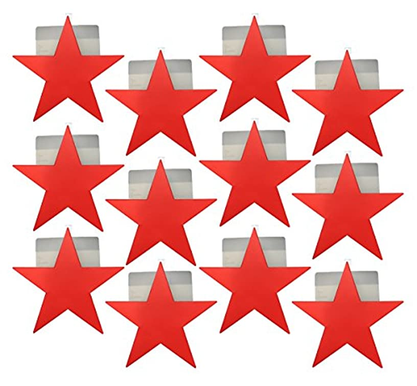 Set of 12 Red Star Ornament-style Hanging Gift Card Boxes / Holders