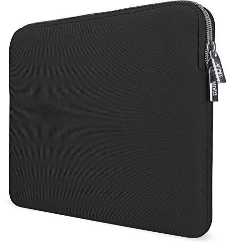 Artwizz Neoprene Sleeve Tasche designed für [MacBook Air 13 (2018-19), MacBook Pro 13 (2016-19)] - Laptop Schutzhülle mit Reißverschluss, Webpelz, extra Schutzrand - Schwarz - 13 Zoll (Neue Version)