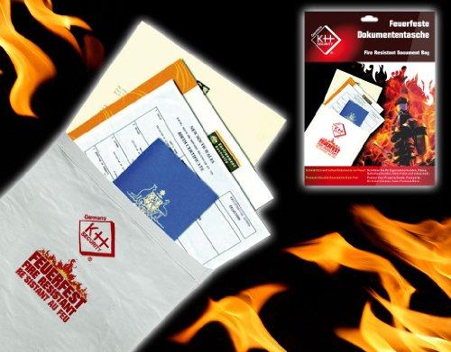 kh security Feuerfeste Dokumententasche, weiß, 290148