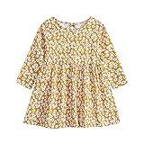 Baby Mädchen Kleinkind Kinder Blumenkleid Langarm Blume Gedruckt Prinzessin Tops Kleid Rock für...