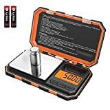 (New Version) Brifit Mini Digital Weighing Scale, 100g-0.01g Pocket Scale, Electronic Smart Scale with 50g Calibration Weight, Tare & Auto Off Function (Battery Included)
