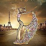 FGHHJ Ornements Statue Figurine Exquis Style Ethnique Danse Beauté Creative Maison Ameublement Festival Cadeau Résine ArtisanatBeauté Statue Sculpture