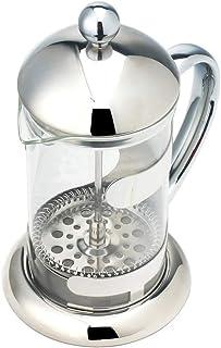 CITTA コーヒー&ティーフレンチプレス コーヒーメーカー 家庭用コーヒー 大容量カフェプレス 5~6杯用 ST6817 800ml シルバー [並行輸入品]
