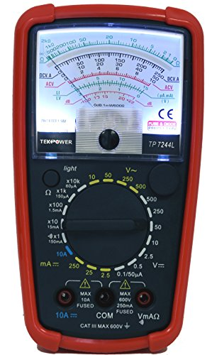 Cheapest Prices! Tekpower TP7244L 7-Function 20-Range Analog Multimeter With Back Light with Strong ...