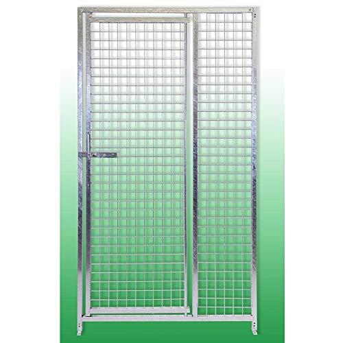 BOXLUM Pannello in Rete con Porta Maglia 5x5 Cm in Acciaio Zincato a Caldo per Recinti per Cani 100 Cm x Altezza 180 Cm