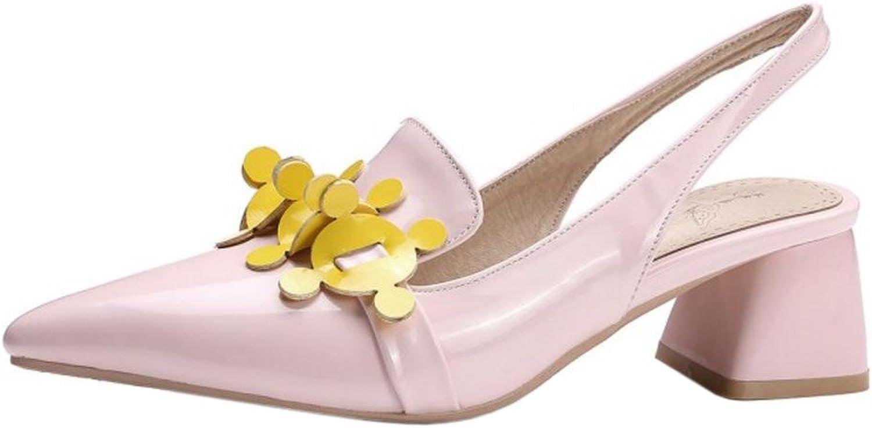 FANIMILA Women Slingback Mid Heels Pumps shoes