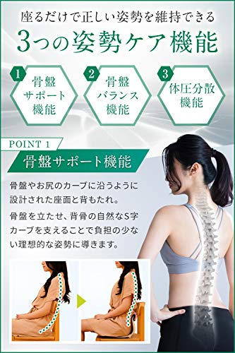 【オリバック】テレワーク推奨骨盤サポートチェア姿勢補正正規品(メーカー純正)(ブラック)