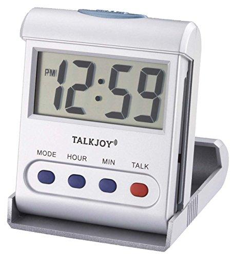 Profi Sprechende Uhr Tischuhr Senioren Blindenuhr Mobiler Reisewecker Uhrzeit Ansage Taschenuhr
